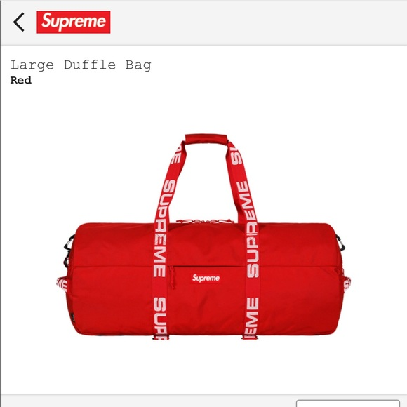 Supreme Large Duffle Bag Red Ss18